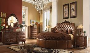 Images Of Round Bed by Formal Round Cherry Brown Bedroom Set Acme Sectionals