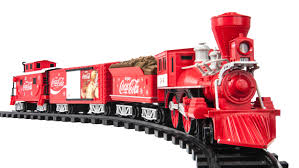 new coca cola train track set electric sound christmas holiday