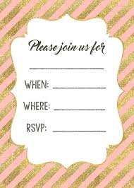 printable invitations pink and gold invitations free printable paper trail design