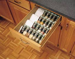 Spice Racks For Kitchen Cabinets Kitchen Cabinet Drawer Spice Bottle Storage Insert If Only It