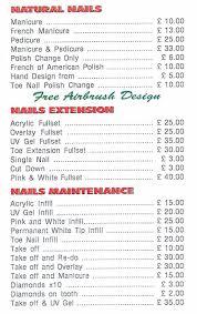 nail design prices nail arts