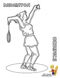 best racquet sport badminton coloring pages kids aim