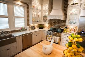 faux brick kitchen backsplash kitchen brick backsplashes for warm and inviting cooking areas