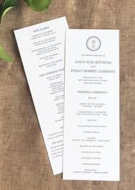 wedding programs sles free wedding program word templates wedding bulletin templates