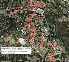 Davis Map Map Of Uga Trash Cans And Recycle Bins Complete Jambeck Research
