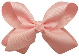 hair bow big light pink hair bow with alligator clip