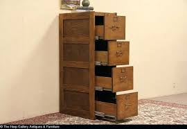 Hon S380 Vertical File Cabinet Oak 4 Drawer Vertical File Cabinet Antique All Wood Signed