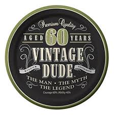 60 years birthday creative converting 8 count vintage dude 60th birthday