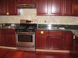 kitchen ideas with cherry cabinets kitchen lovely kitchen backsplash cherry cabinets trendy design