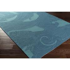 Koi Outdoor Rug Indoor Outdoor Teal And Turquoise Koi Fish Rug