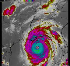 Weather Map Louisiana by Hurricane Katrina August 2005