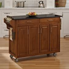 birch wood natural shaker door black kitchen island cart