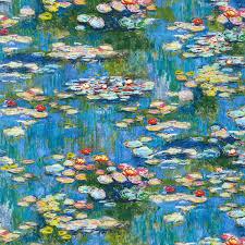 robert kaufman fabrics claude monet water water lillies quilting