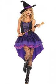 witch costume womens sleeveless witch costume purple pink