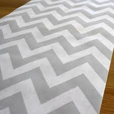 Grey Chevron Table Runner Table Runners U2013 The Pretty Baker