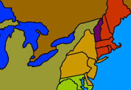 the thirteen colonies map 13 colonies
