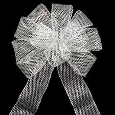 black and white wired ribbon big bows outdoor bows large wired outdoor mesh