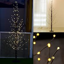 1 8m 216led frosted tree light brown branches outdoor