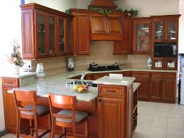 how to finish the top of kitchen cabinets kitchen oak wood kitchen cabinets idea with dark finish goes with