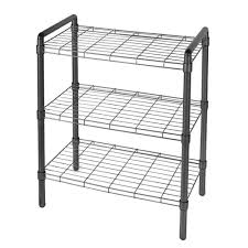 the art of storage 23 in 3 tier adjustable wire shelving with