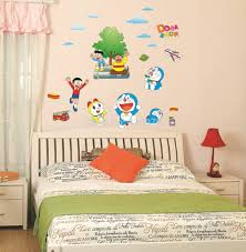 compare prices on doraemon wall murals wallpapers for kids online ay860 great popular cartoon doraemon pattern wallpaper wall sticker wall mural home decor room decor kids