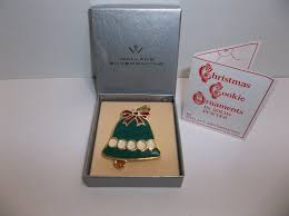 wallace silversmiths cookie ornament bell mib solid