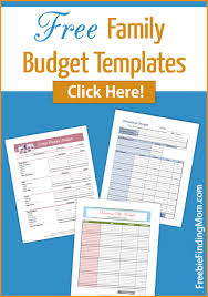 free family budget templates organize your family u0027s budget