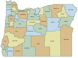maps oregon county map