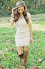 white lace summer dress with cowboy boots naf dresses
