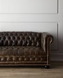 Old Hickory Tannery St Andrews Leather Sofa - Hickory leather sofa