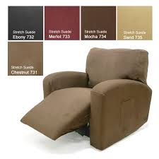 stretch suede chair recliner cover