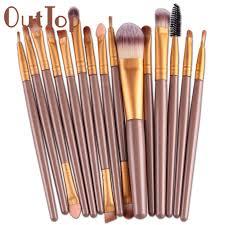 best deal new good quality professional 15 pcs sets eye shadow brush foundation eyebrow lip brush makeup brushes estic tool