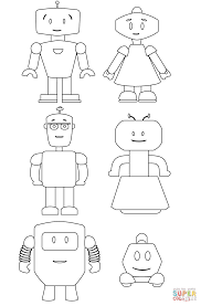 cute robots coloring page free printable coloring pages