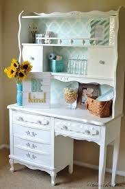 White Desk With Hutch Best 25 Vintage Desks Ideas On Pinterest Chalk Paint Desk