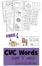 cvc words cut u0026 paste booklet u2013 short o words