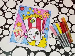 shopkins poppy corn coloring page youtube
