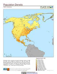 North America Maps by Maps Population Landscape And Climate Estimates Place V2
