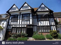 an old tudor style house in mermaid street rye stock photo