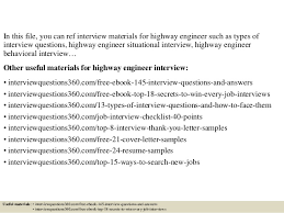 Highway Engineer Resume Top 10 Highway Engineer Interview Questions And Answers