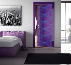 Door Design Ideas by Modern Door Design Ideas With Colorful Graphic Pattern
