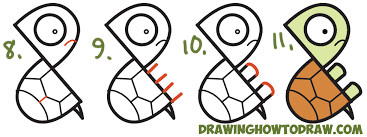coloring appealing turtle easy draw 3 coloring