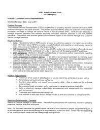 Resume Customer Service by Customer Service Job Description Resume