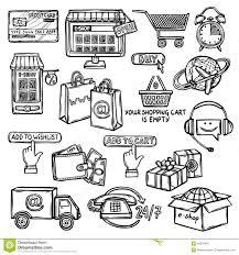 e commerce sketch icons stock photo image 77783387