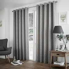 Debenhams Curtains Ready Made Curtina Harlow Silver Eyelet Heading Curtains Debenhams