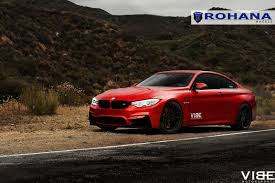 matte red bmw bmw m4 on 20