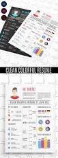 colour resume format 15 creative infographic resume templates colorful graphic design resume template