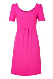 dress pink bright pink cotton stretch pencil dress dress elizabeth s custom