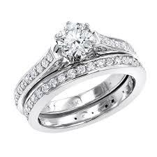 wedding band set 14k gold diamond engagement ring and wedding band set 1 75ct