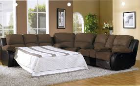 Sofas And Recliners Wonderful Sectional Sleeper Sofa With Recliners Leather Sectional