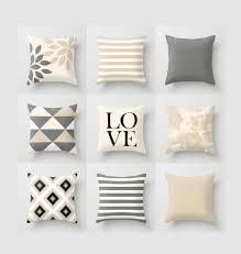 Black Sofa Pillows by Neutral Throw Pillow Geometric Home Decor Grey Beige Black White